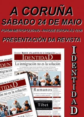 Crónica da presentación en A Coruña da revista IdentidaD